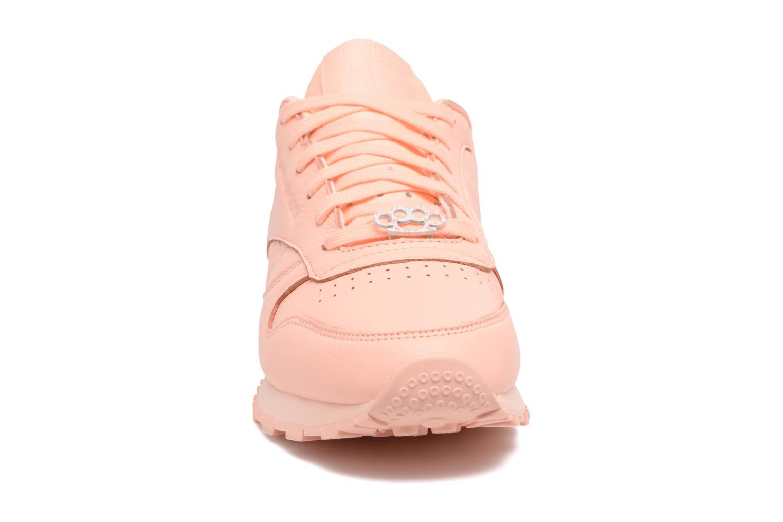 Cl Lthr L Grit-Peach Twist/Sleek Met