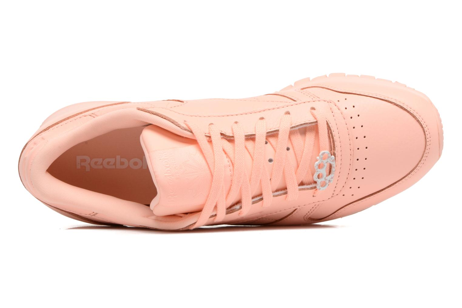Cl Lthr L Grit-Peach Twist/Sleek Met