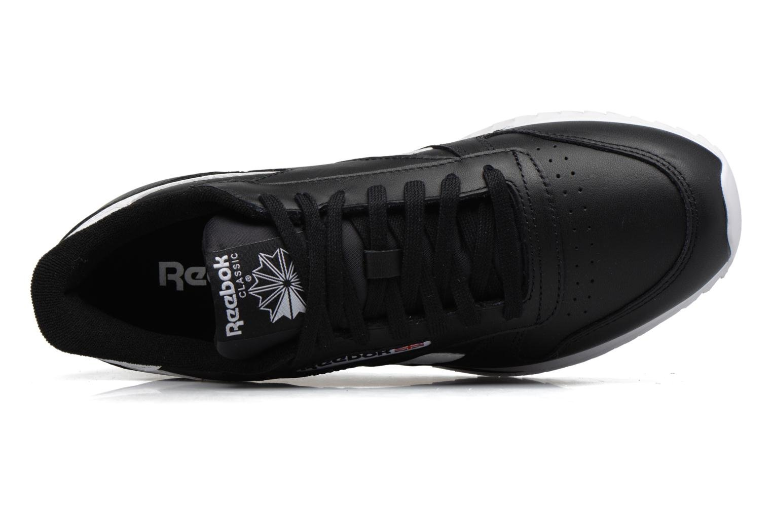 Baskets Reebok Cl Leather Ripple L Noir vue gauche