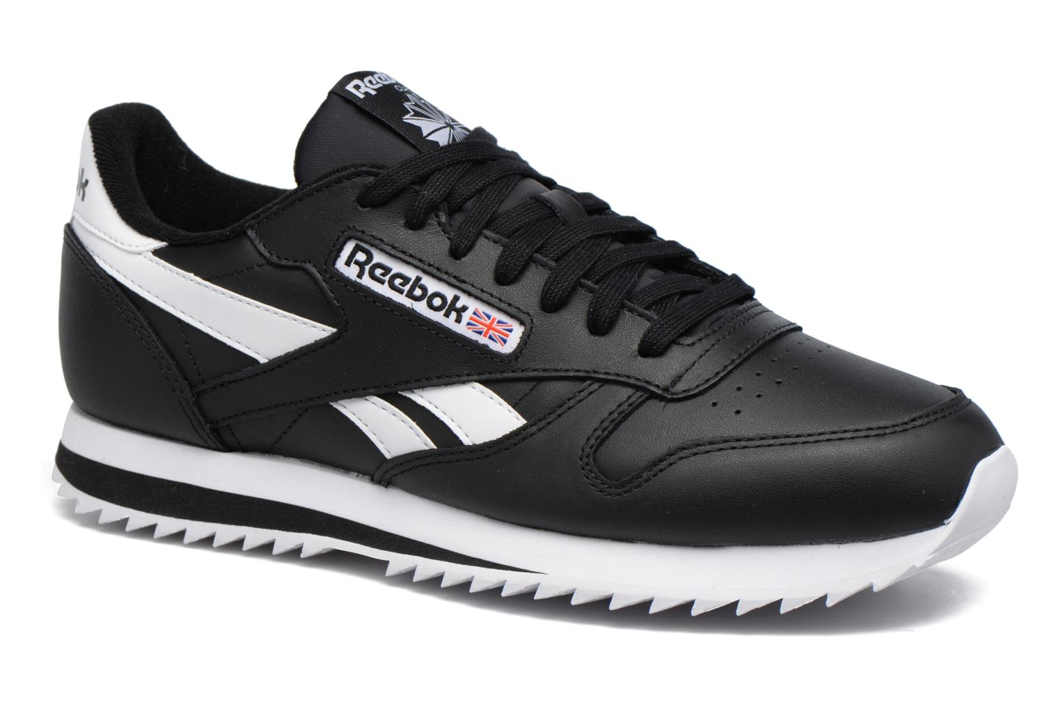 Baskets Reebok Cl Leather Ripple L Noir vue détail/paire