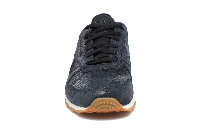 Baskets Reebok Cl Lthr Clean Exoti Noir vue portées chaussures