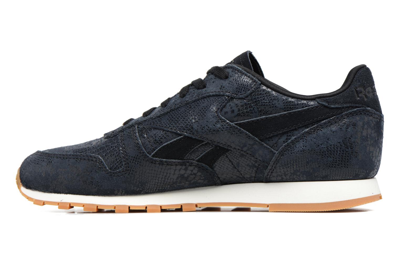 Sneakers Reebok Cl Lthr Clean Exoti Zwart voorkant