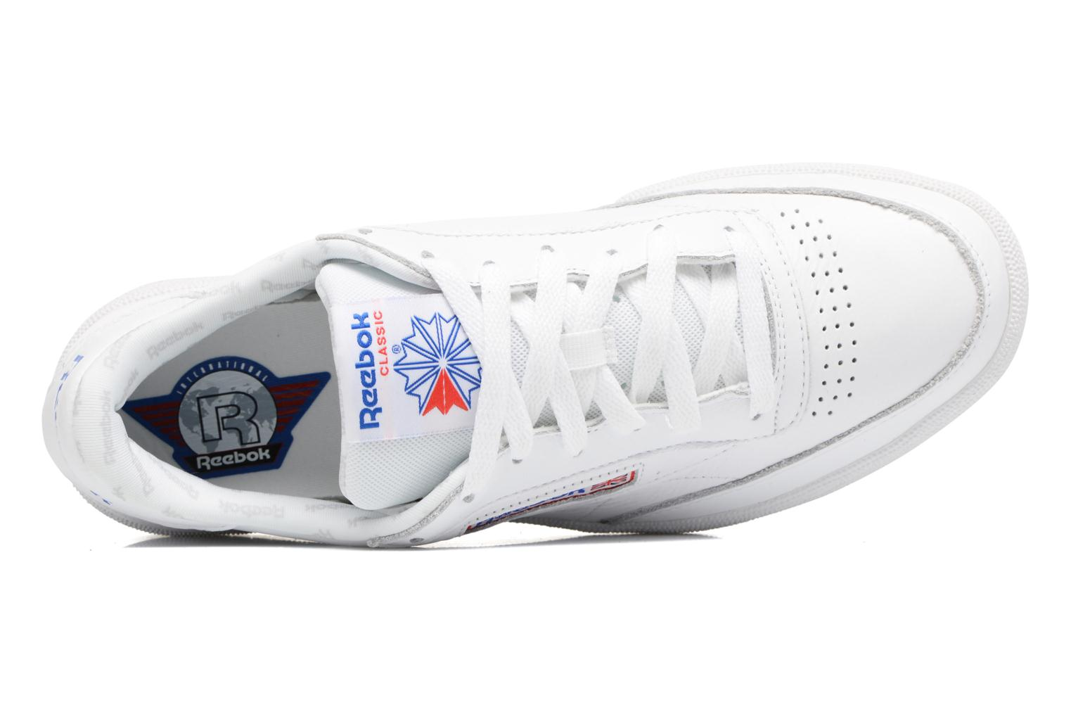Club C 85 So White/Lgh Solid Grey/Vital Blue/Prml Red/Blk