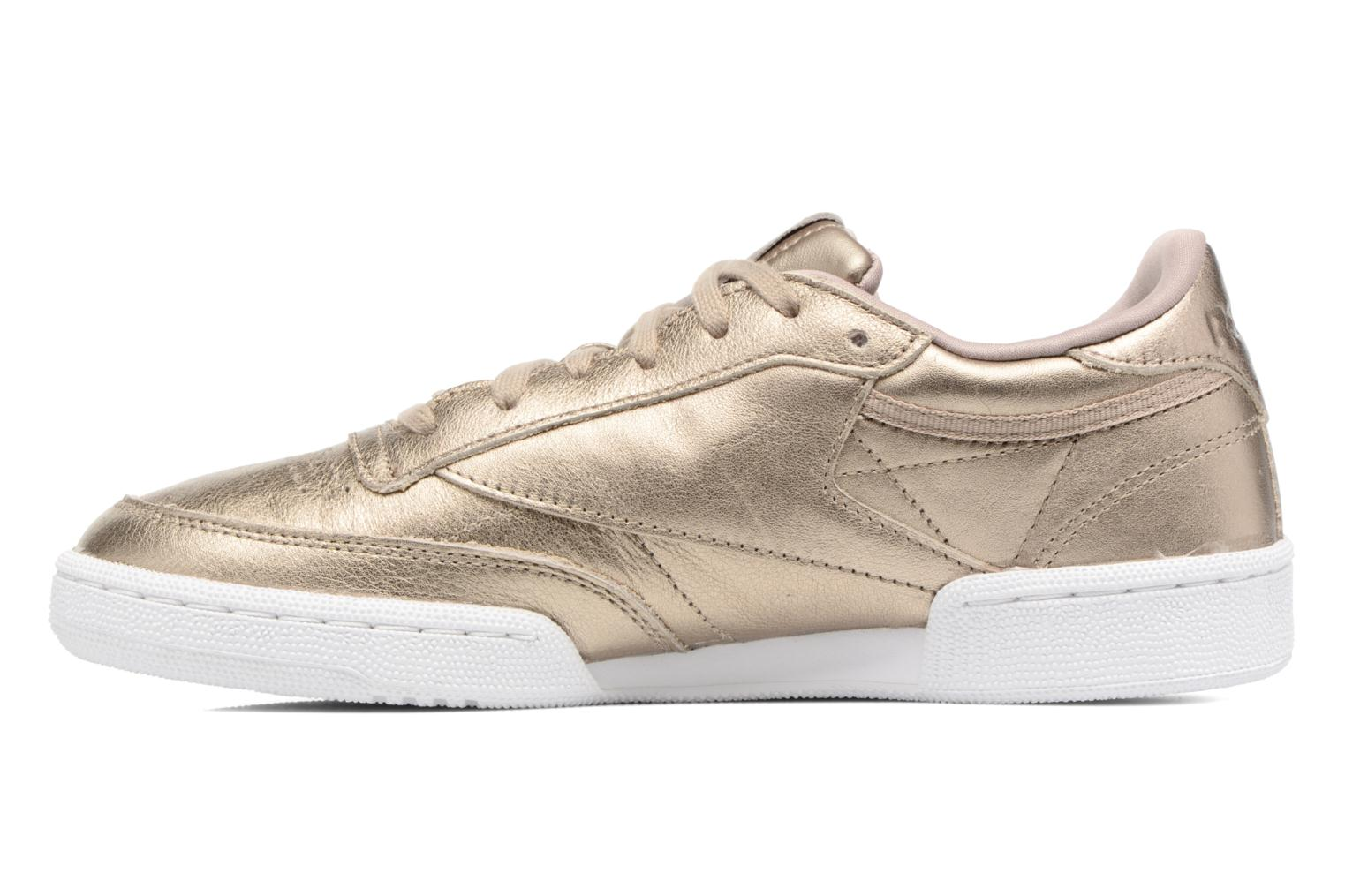 Baskets Reebok Club C 85 Melted Me Or et bronze vue face