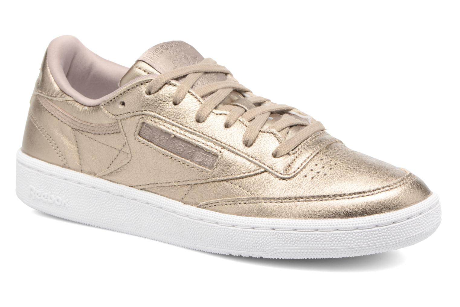 Baskets Reebok Club C 85 Melted Me Or et bronze vue détail/paire