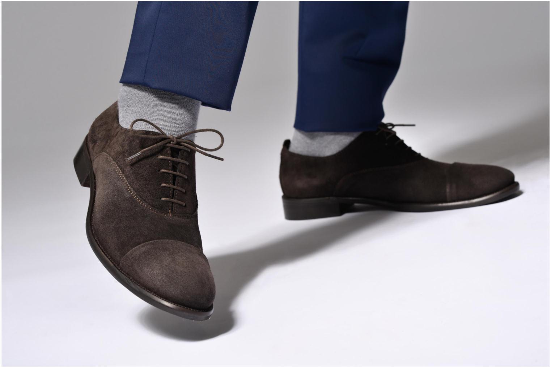 Chaussures à lacets Marvin&Co Delloni Bleu vue bas / vue portée sac