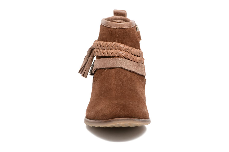 Bottines et boots Adolie Odeon Tresse Marron vue portées chaussures