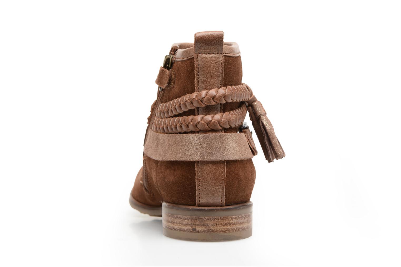 Bottines et boots Adolie Odeon Tresse Marron vue droite