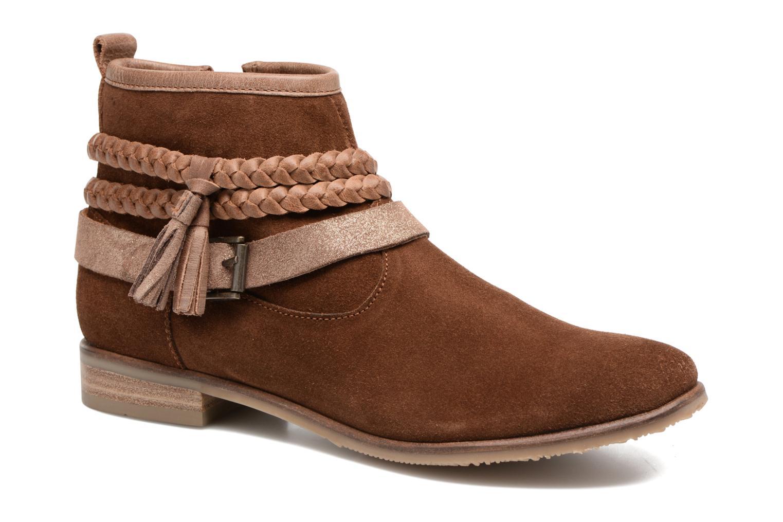 Bottines et boots Adolie Odeon Tresse Marron vue détail/paire