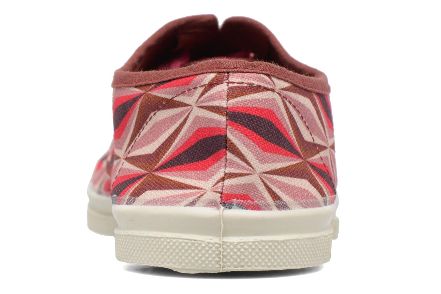 Trainers Bensimon Tennis Losanges Pink view from the right