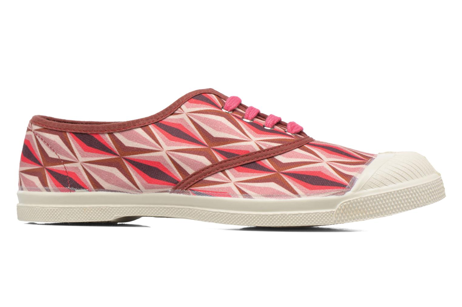 Trainers Bensimon Tennis Losanges Pink back view