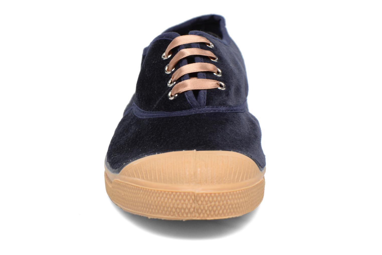 Trainers Bensimon Tennis Velvet Blue model view