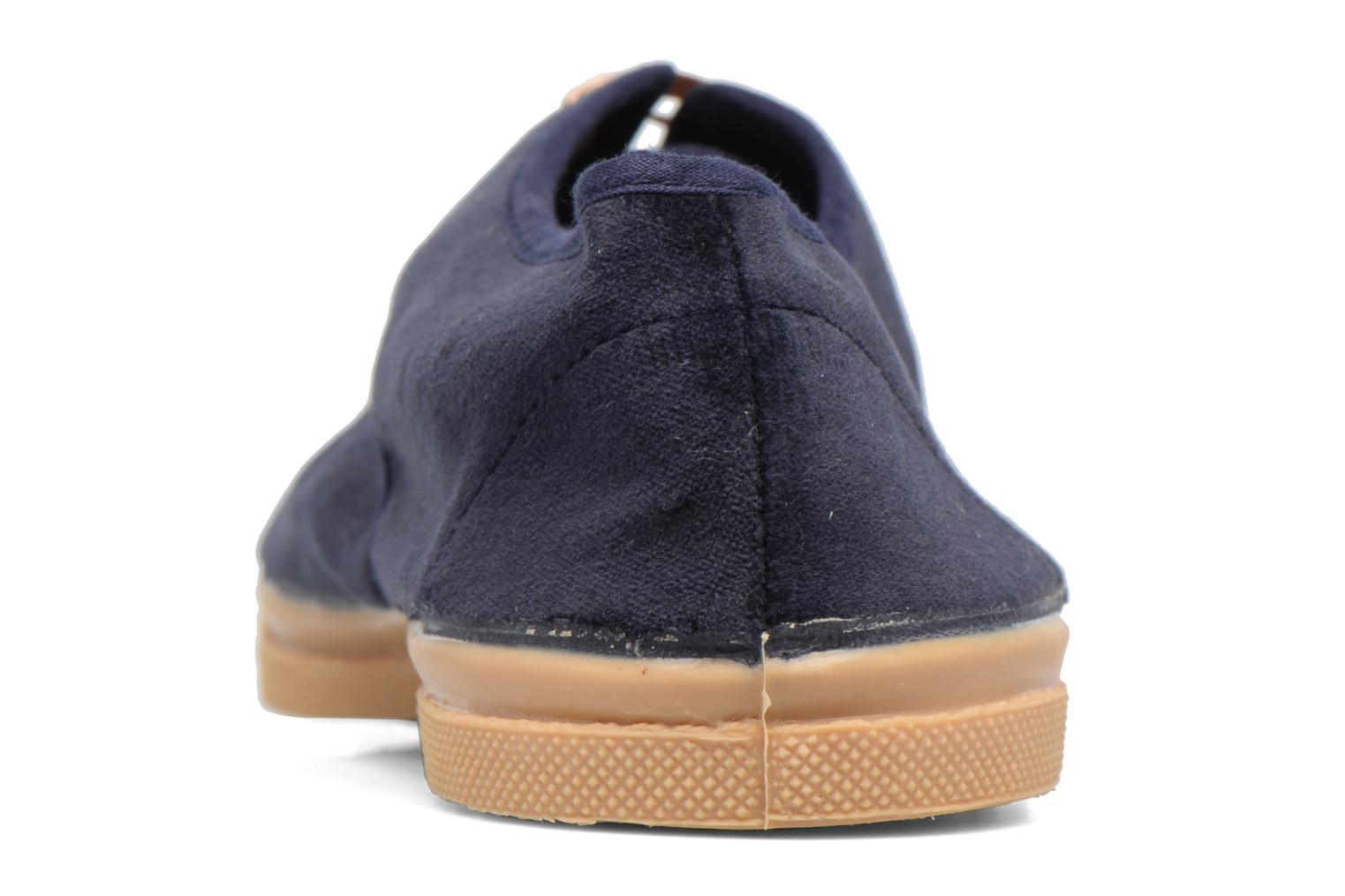 Trainers Bensimon Tennis Velvet Blue view from the right