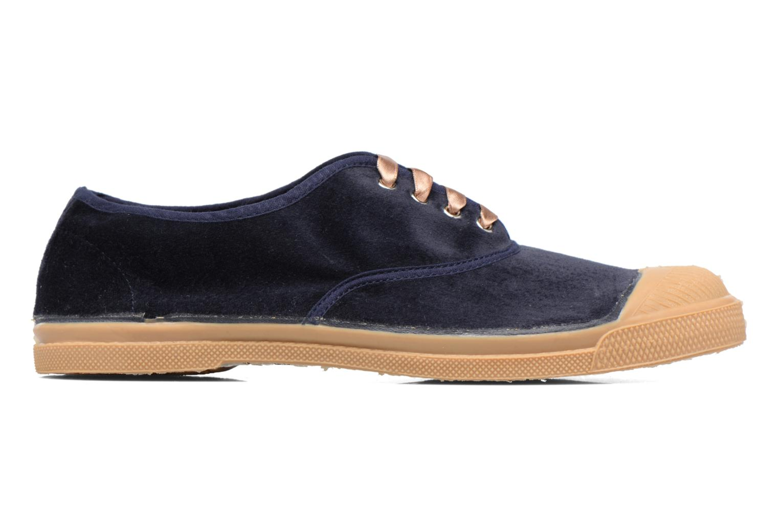 Trainers Bensimon Tennis Velvet Blue back view