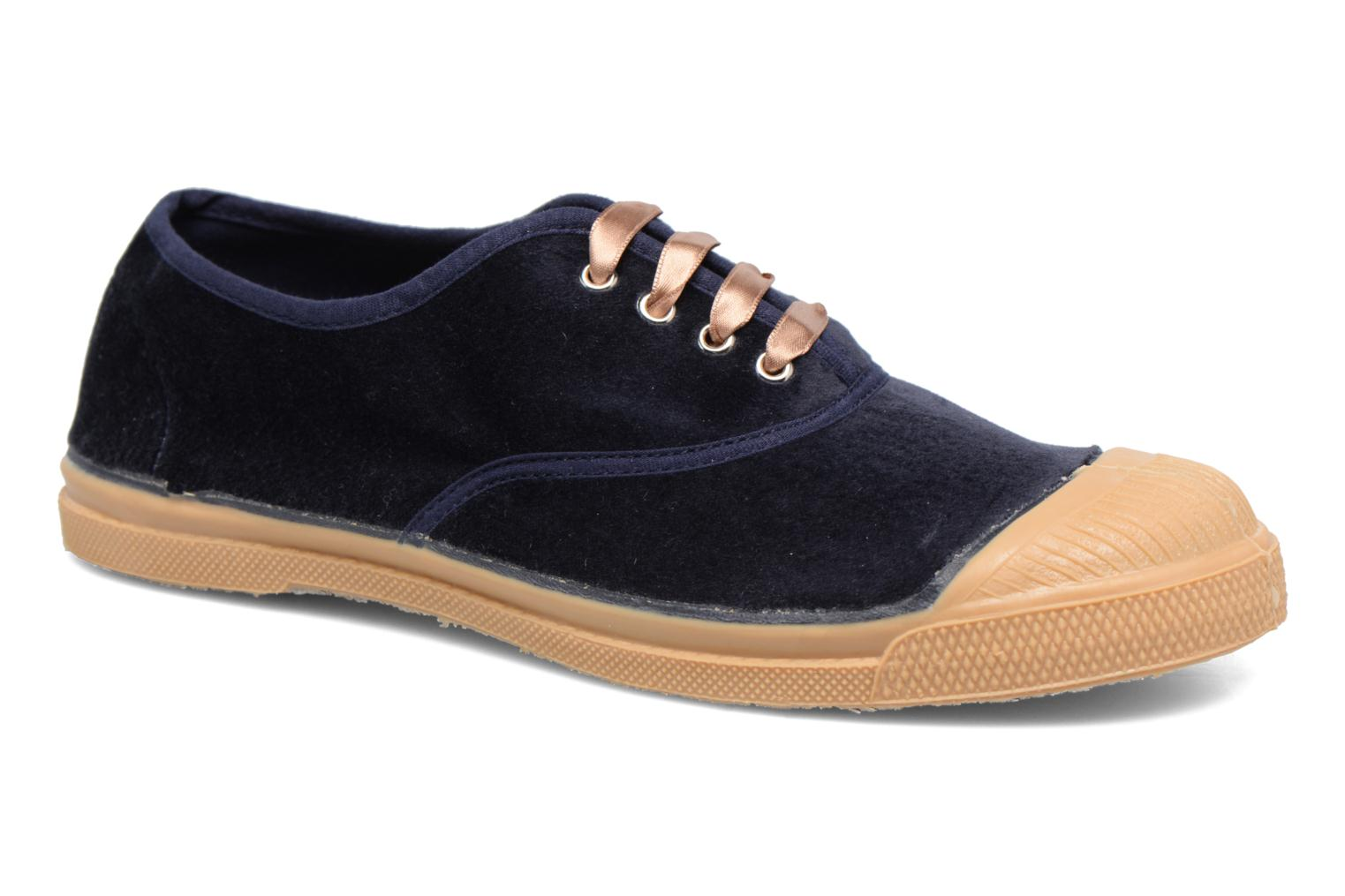 Trainers Bensimon Tennis Velvet Blue detailed view/ Pair view