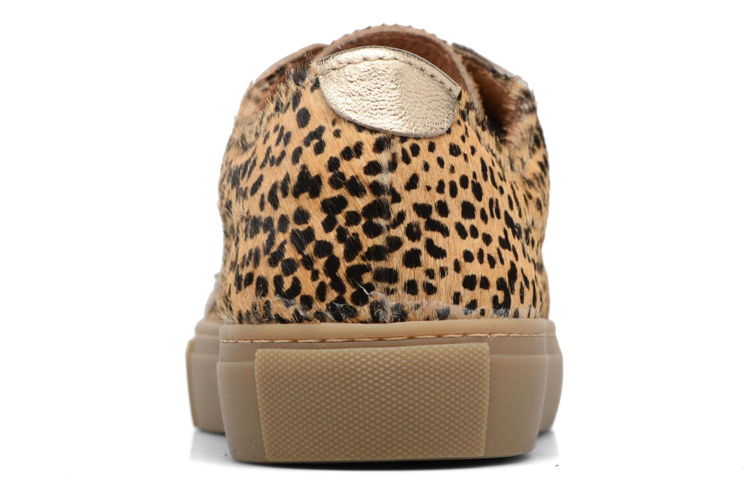 Baskets Bensimon Tennis Chic 2 Marron vue droite
