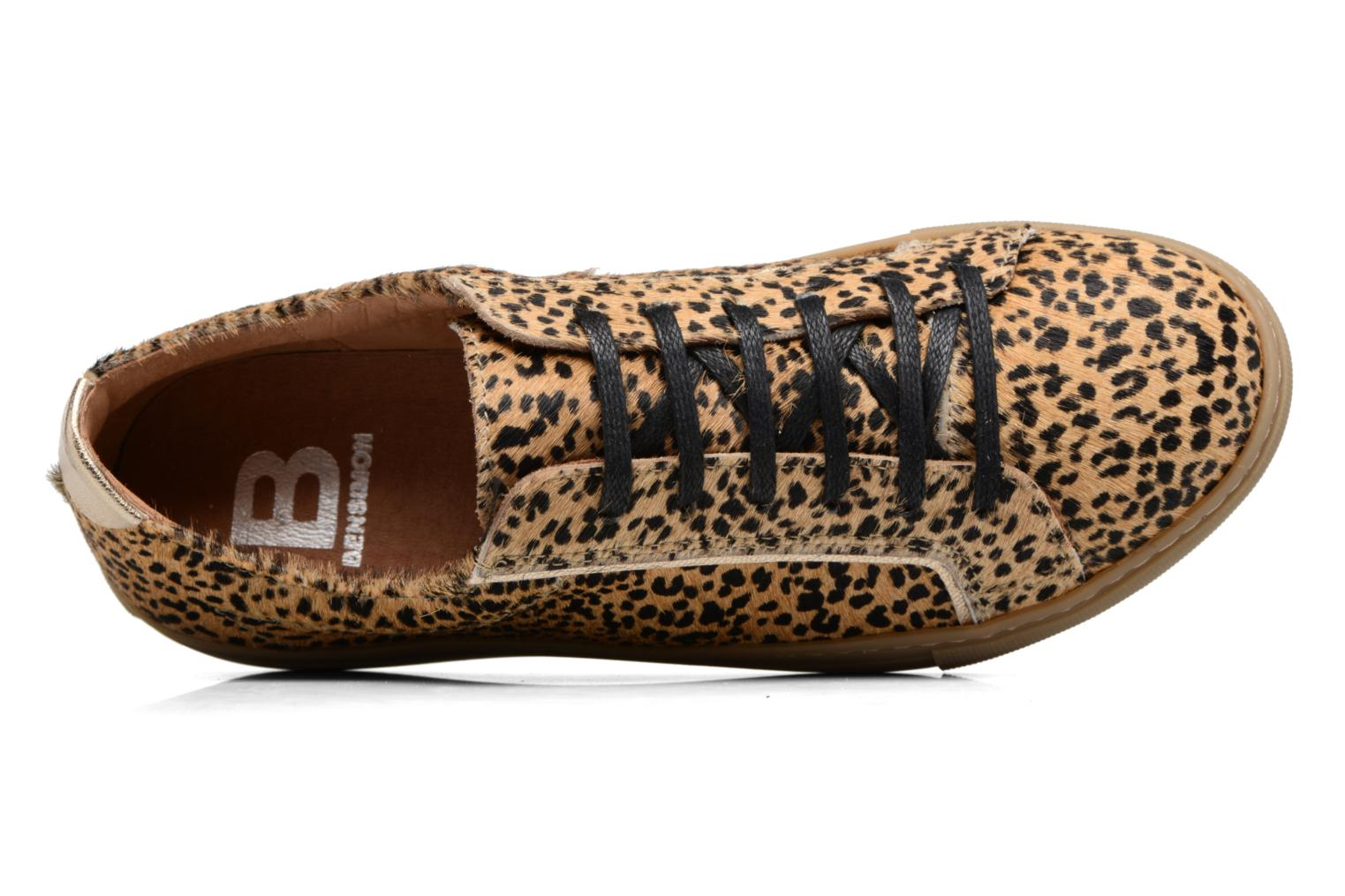 Trainers Bensimon Tennis Chic 2 Brown view from the left