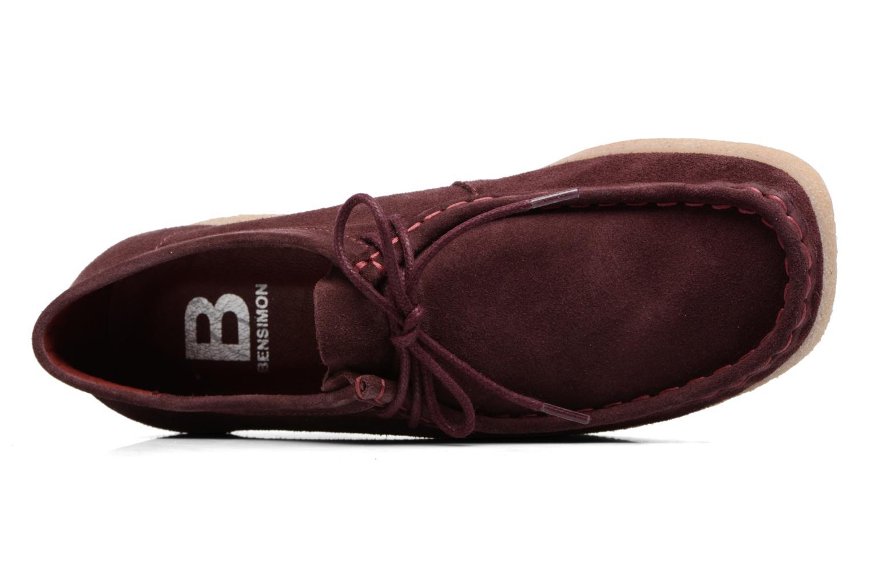 Chaussures à lacets Bensimon Derbys Casual Bordeaux vue gauche