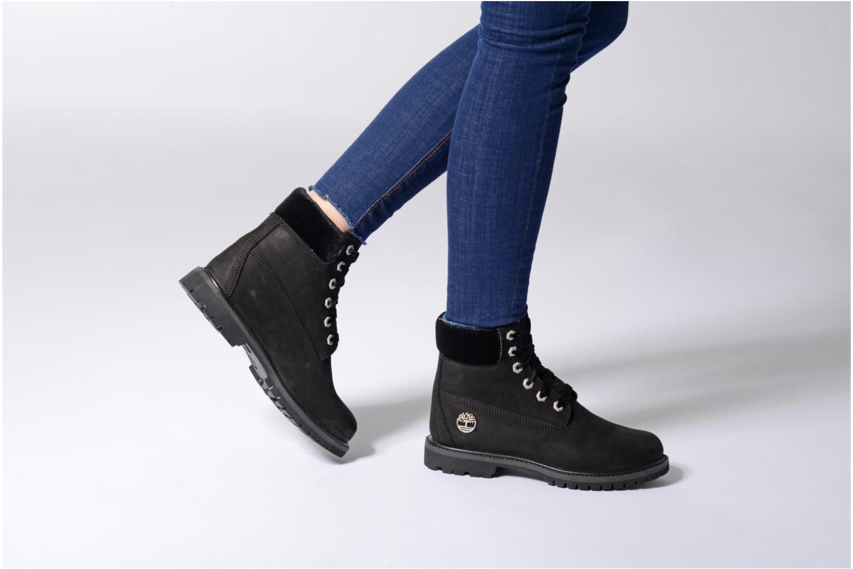 Bottines et boots Timberland 6in Premium WP Boot L/F- W Noir vue bas / vue portée sac