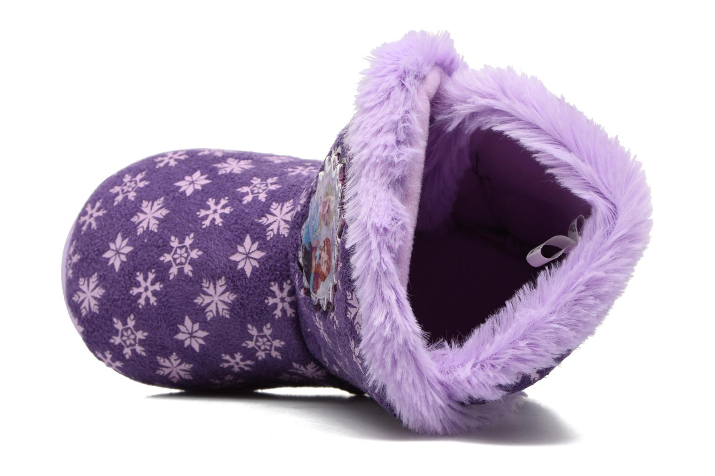 Chaussons Frozen Stracie Violet vue gauche