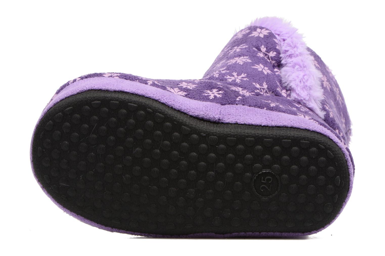 Chaussons Frozen Stracie Violet vue haut