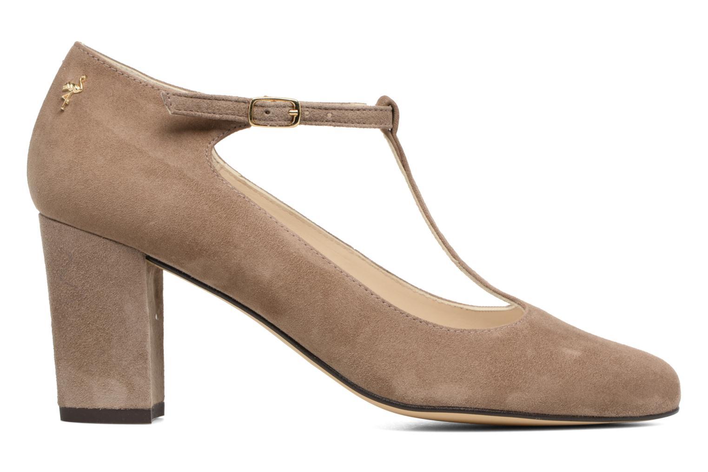 Zapatos de tacón Menbur Buren Beige vistra trasera