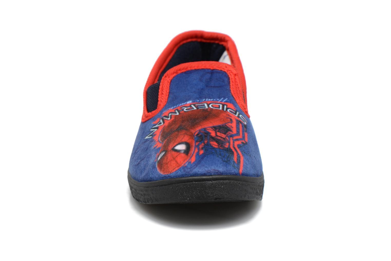 Hausschuhe Spiderman Spencer blau schuhe getragen