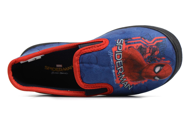 Pantuflas Spiderman Spencer Azul vista lateral izquierda