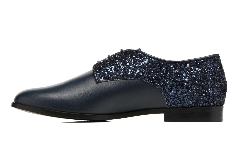 Zapatos con cordones Georgia Rose Louma Azul vista de frente
