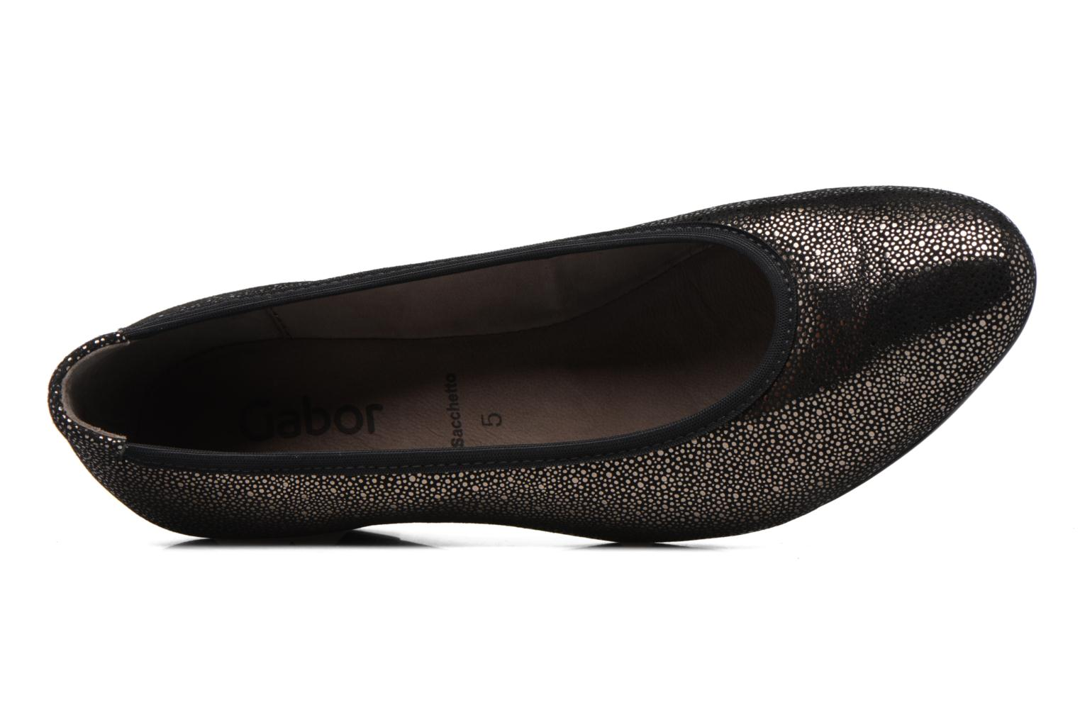 Ballet pumps Gabor Stellana Black view from the left