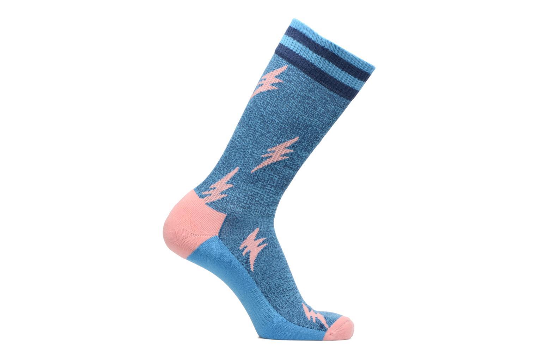 Sokken en panty's Happy Socks Athletic Flash Chaussettes Hautes Blauw detail