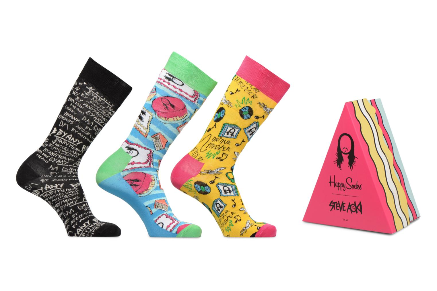 Socks & tights Happy Socks Happy Socks x Steve Aoki Lot de 3 Multicolor detailed view/ Pair view