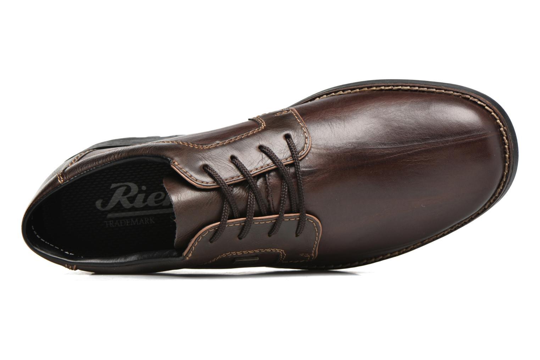 Chaussures à lacets Rieker Benj 16024 Marron vue gauche