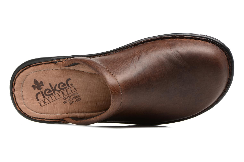 Pantofole Rieker Paul 26596 Marrone immagine sinistra