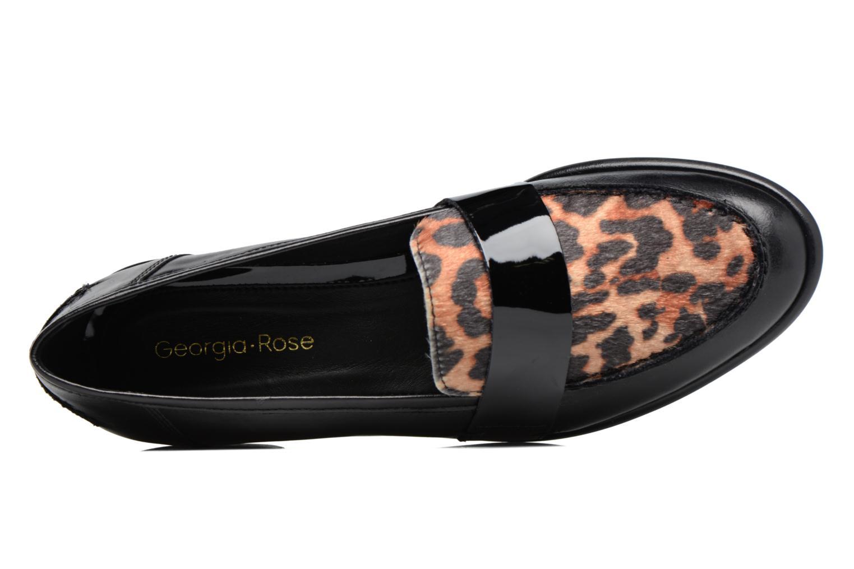 Loupom cuir noir et léopard