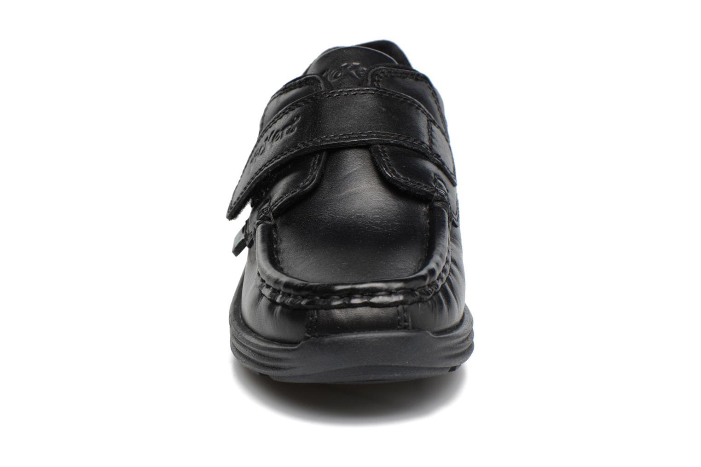 Velcro shoes Kickers REASAN STRAP LTHR Black model view