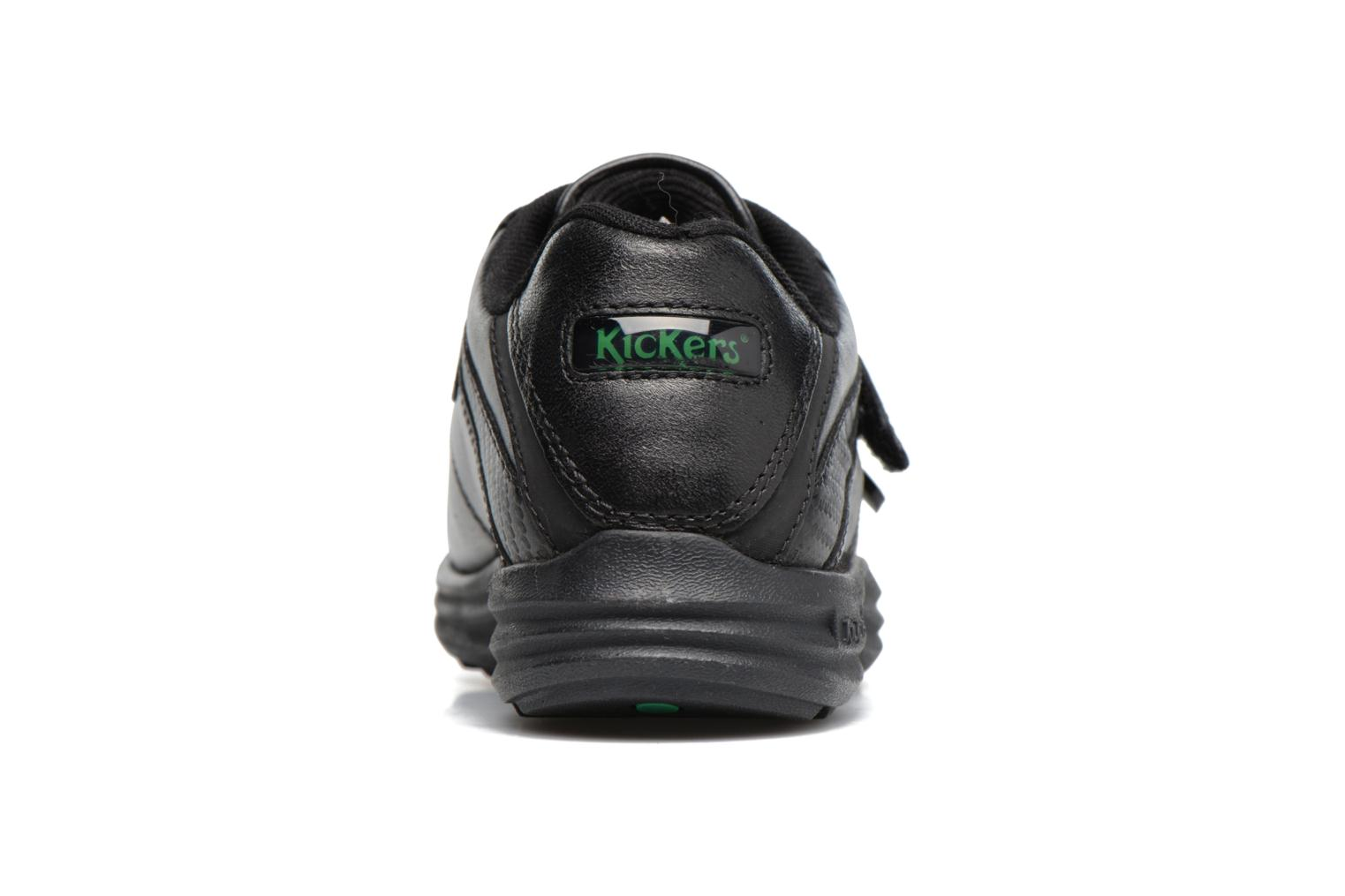 Velcro shoes Kickers REASAN STRAP LTHR Black view from the right