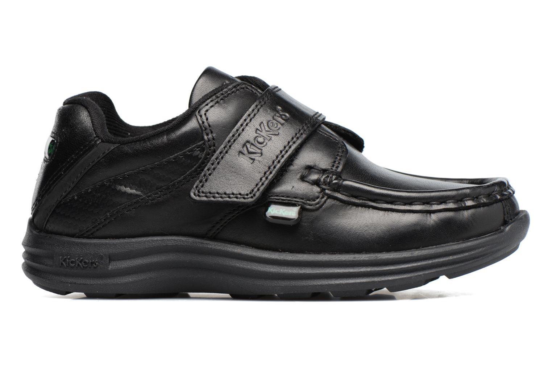 Velcro shoes Kickers REASAN STRAP LTHR Black back view