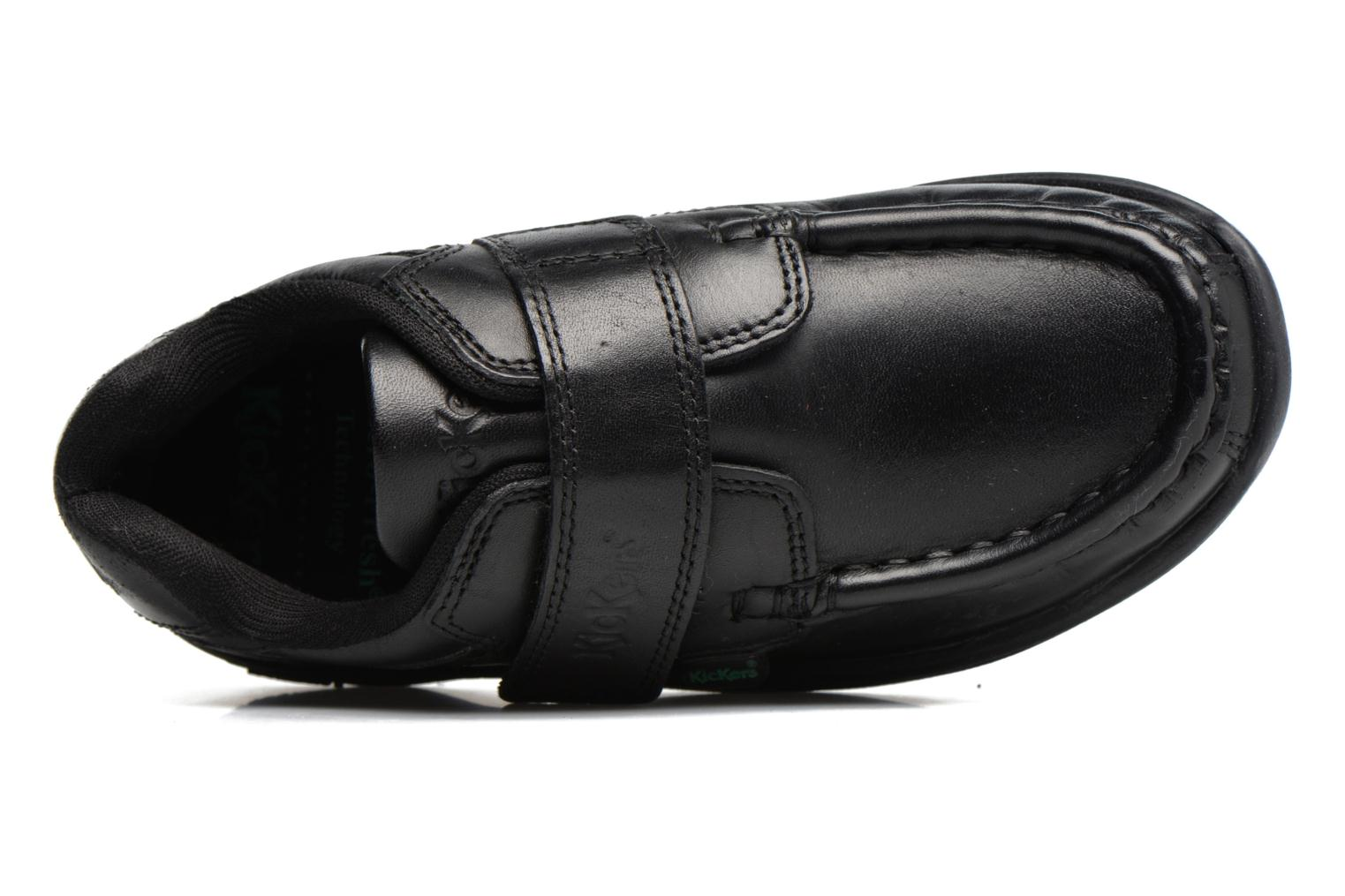 Velcro shoes Kickers REASAN STRAP LTHR Black view from the left