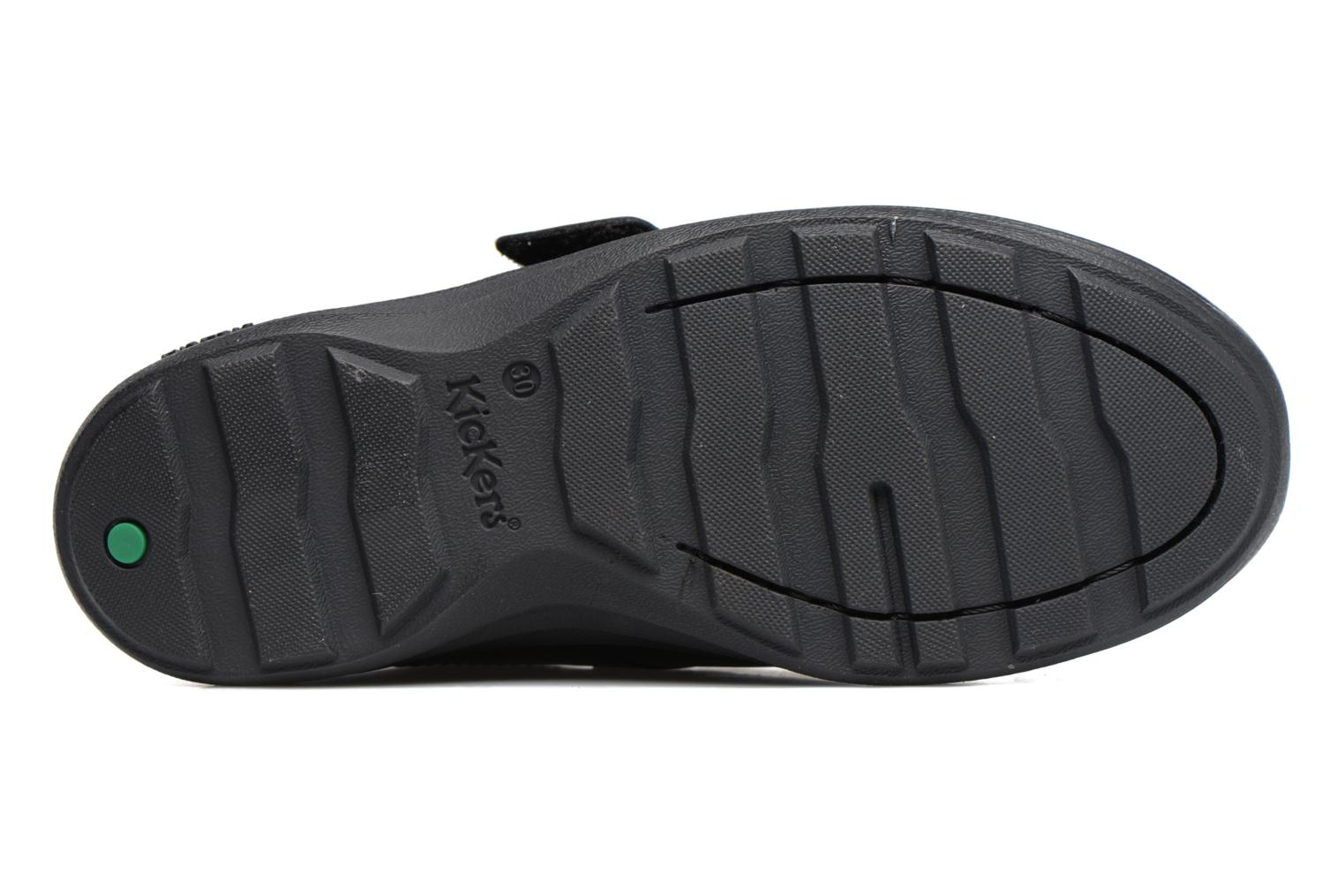 Velcro shoes Kickers REASAN STRAP LTHR Black view from above