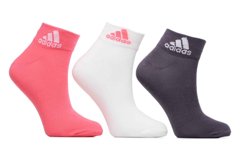 Strømper og tights Adidas Performance PER ANKLE T 3PP Pink detaljeret billede af skoene