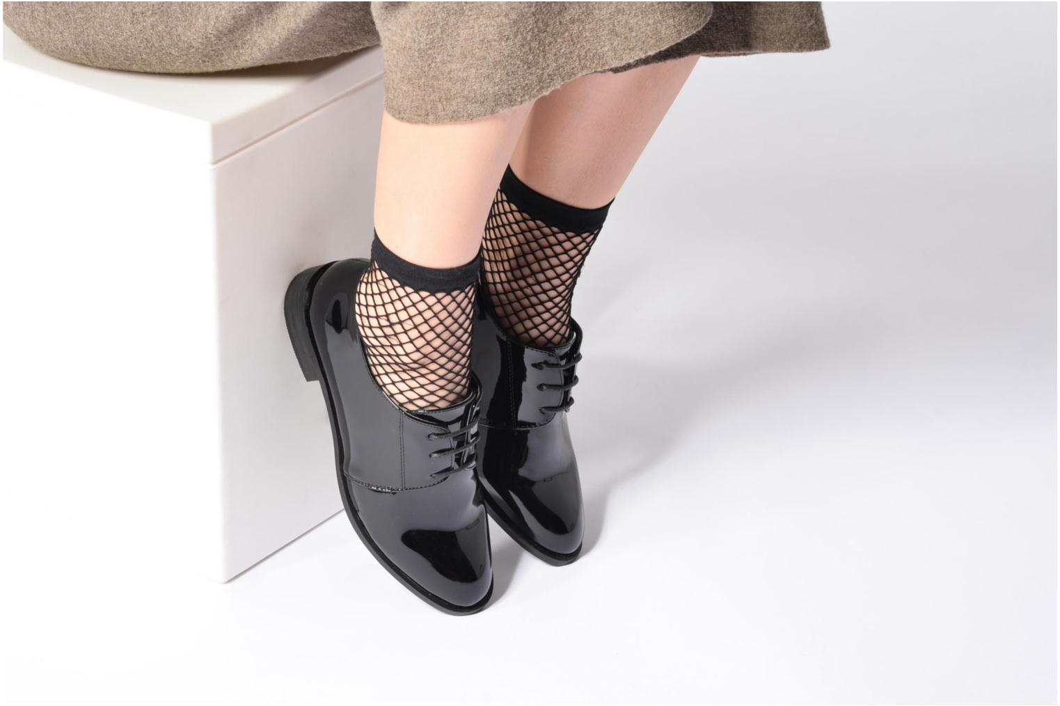 Lace-up shoes I Love Shoes CLEMIA Black view from underneath / model view