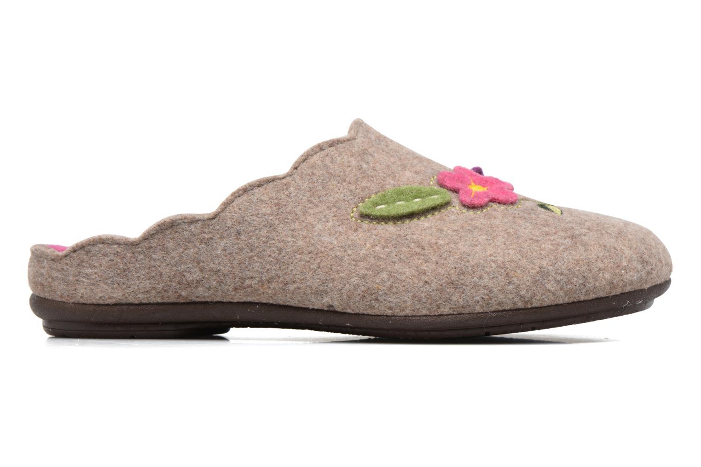 Pantoffels Rondinaud Terrette Beige achterkant
