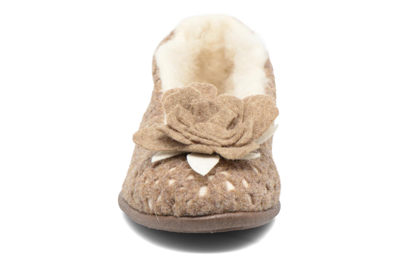Chaussons Rondinaud Aubeterre Marron vue portées chaussures