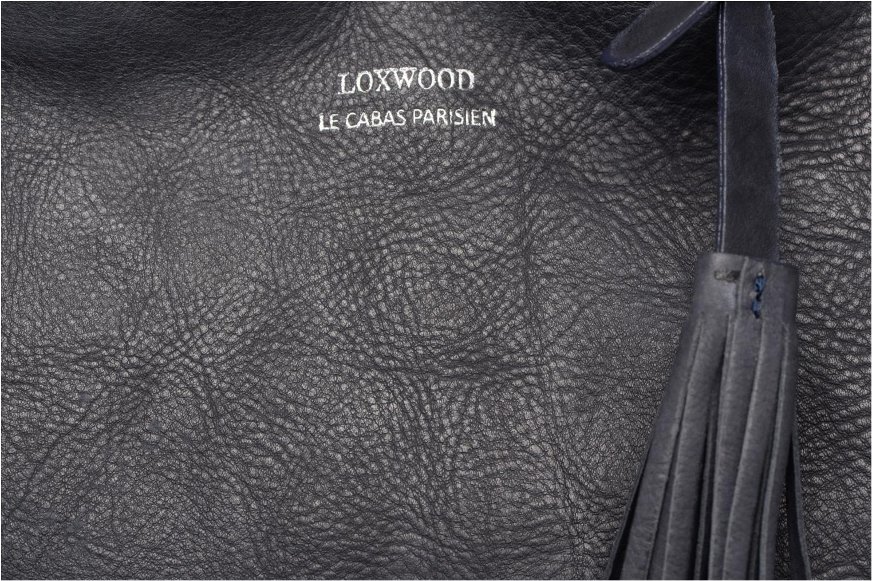 Sacs à main Loxwood Cabas Parisien Mm Tresse Cotes Bleu vue gauche