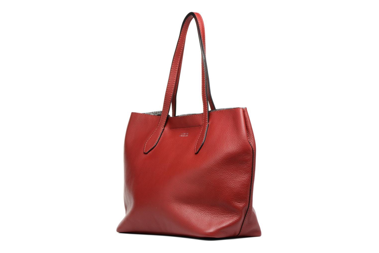 Borse Loxwood Sac Shopper Rosso modello indossato