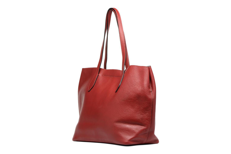 Handtaschen Loxwood Sac Shopper rot ansicht von rechts
