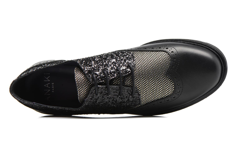 Zapatos con cordones Anaki Nicky Negro vista lateral izquierda