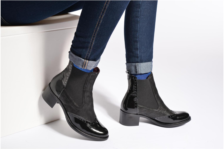 Bottines et boots Georgia Rose Napoli Bleu vue bas / vue portée sac