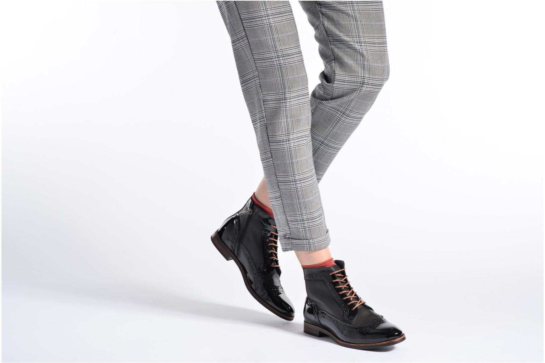 Bottines et boots Georgia Rose Navola Noir vue bas / vue portée sac